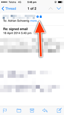 A signed and encrypted email